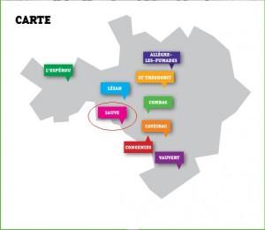Carte du Challenge Gardois 2015-Sauve