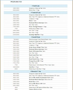 Programme Velo vert Festival 2015